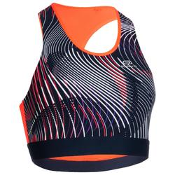 Sport-BH Bustier Damen blau/orange