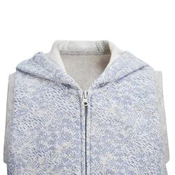 500 Sleeveless Baby Gym Jacket - Grey