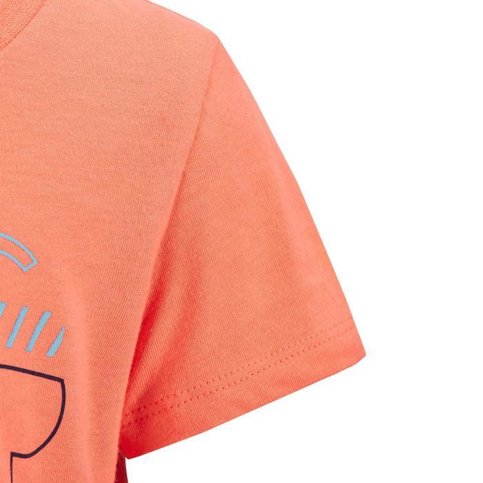 100 Short-Sleeved Baby Gym T-Shirt - Orange Print