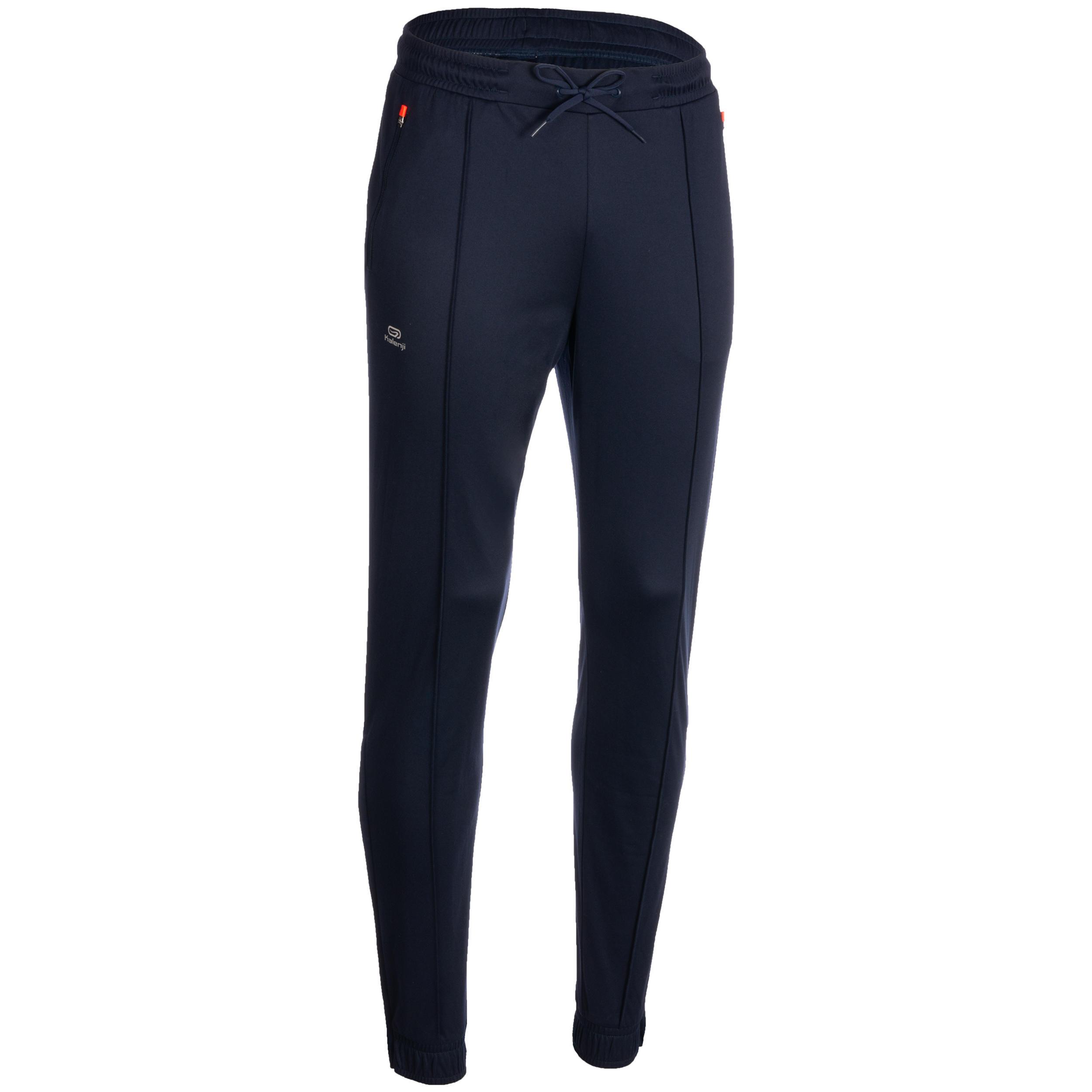 Laufhose lang Herren blau/orange | Sportbekleidung > Sporthosen > Laufhosen | Kalenji