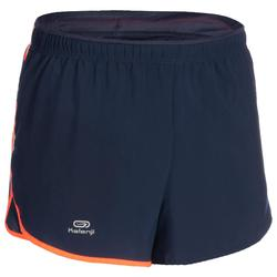 SHORT D'ATHLETISME HOMME BLEU ET ORANGE