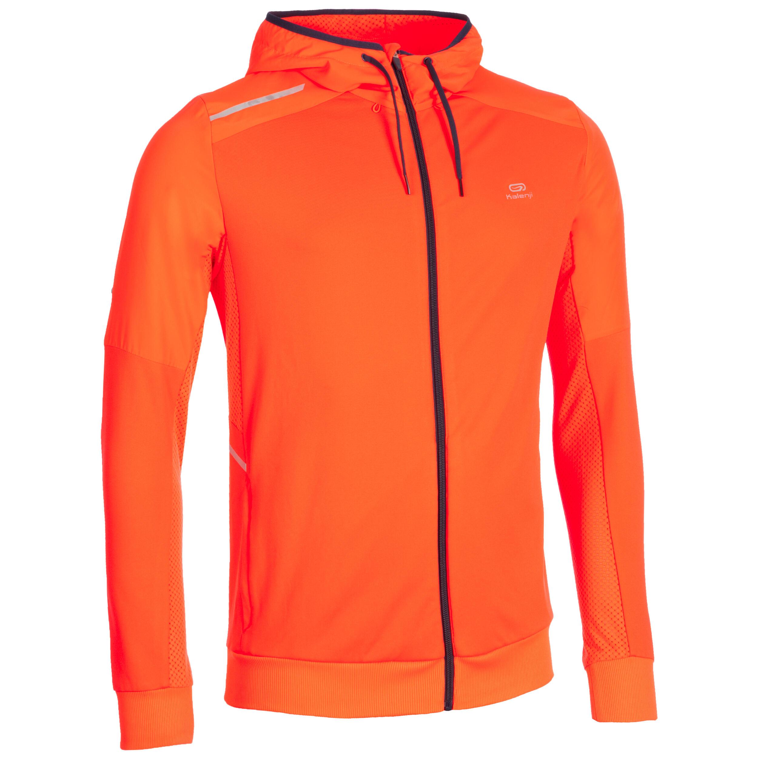 Kalenji Opwarmjack voor heren atletiek oranje