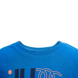 100 Baby Gym Short-Sleeved T-Shirt - Blue Print
