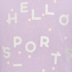 100 Baby Gym Short-Sleeved T-Shirt - Purple Print