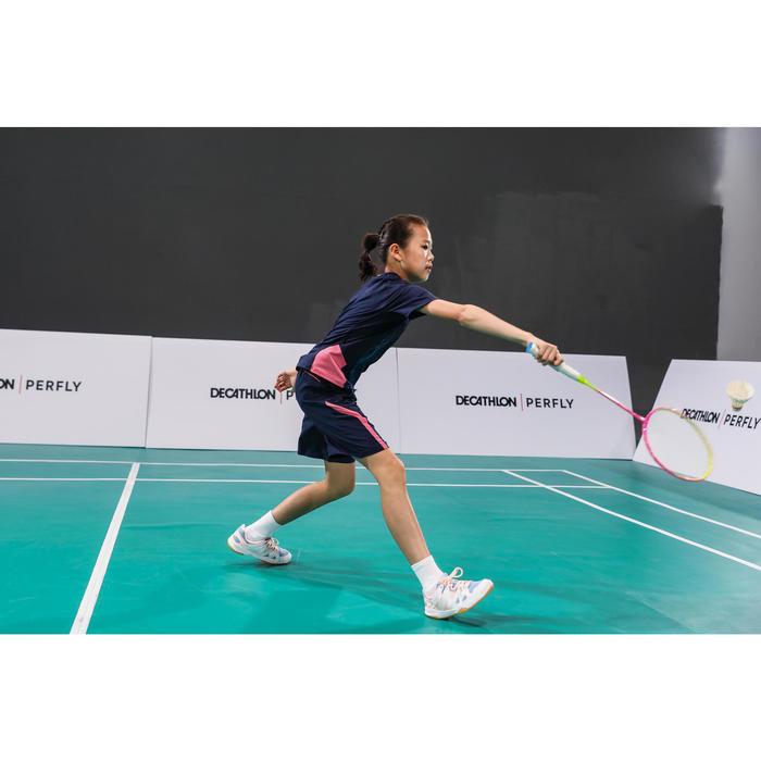 Badmintonschuhe BS 500 Kinder Mädchen pink