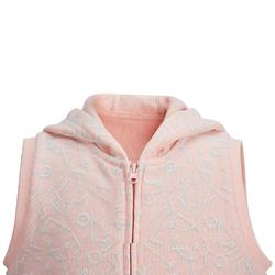 500 Sleeveless Baby Gym Jacket - Pink
