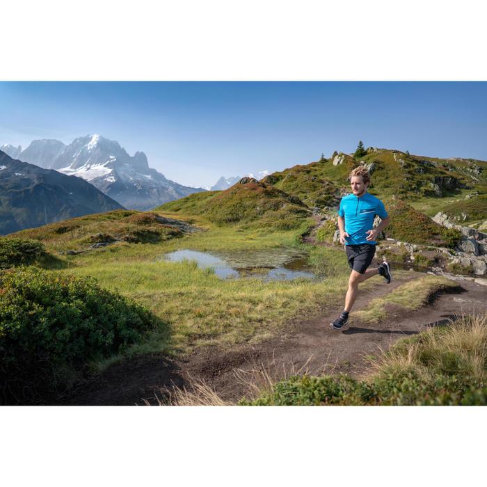 Baggy herenshort voor trail grijs met print