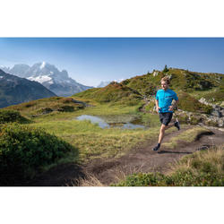 Laufshirt kurzarm Trail Herren blau/türkis