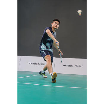 Badmintonschoenen voor heren BS 560 Lite wit/geel