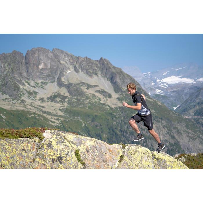 Lauf-Weste Trail Herren weiß mit Muster