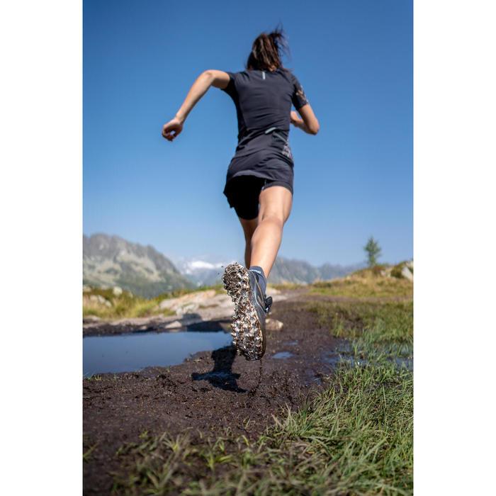 Laufshirt kurzarm Trail Damen schwarz