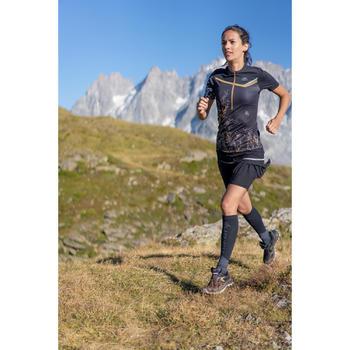 T-shirt met korte mouwen voor trail dames zwart
