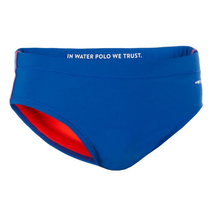 Zwemslip waterpolo 500 jongens blauw