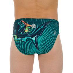 Zwemslip waterpolo jongens 500 Shark groen