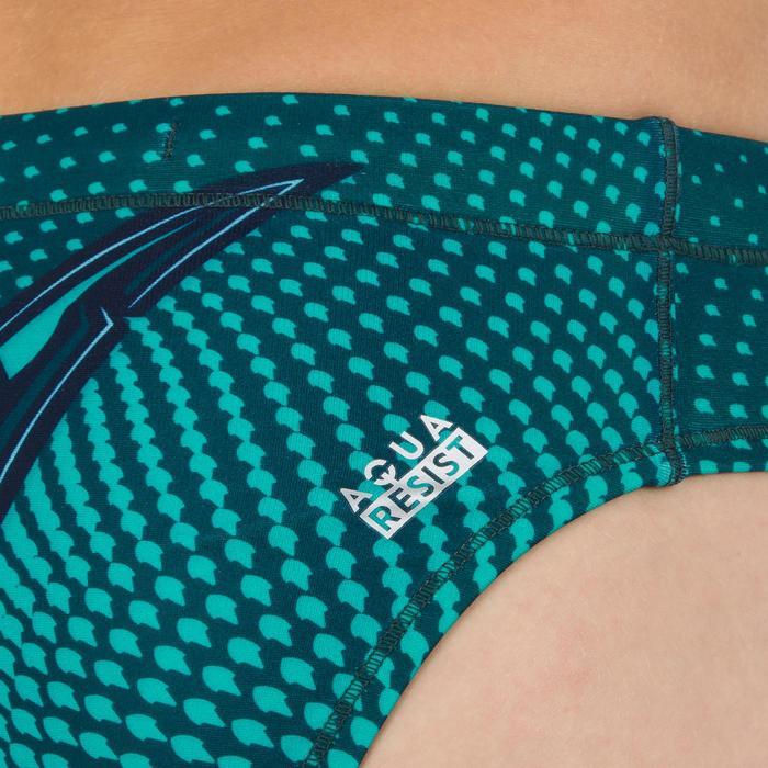 Waterpolozwembroek Shark voor jongens groen