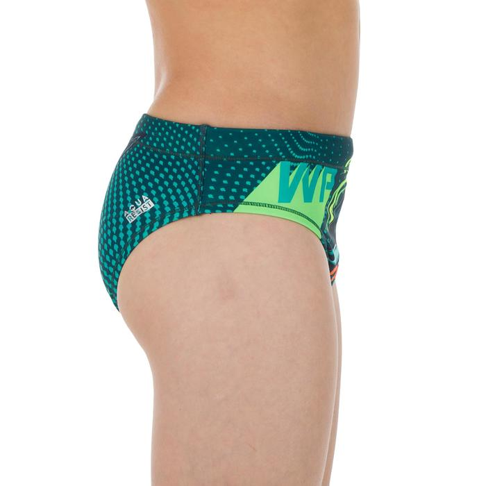 Badehose Slip Wasserball Shark Jungen grün