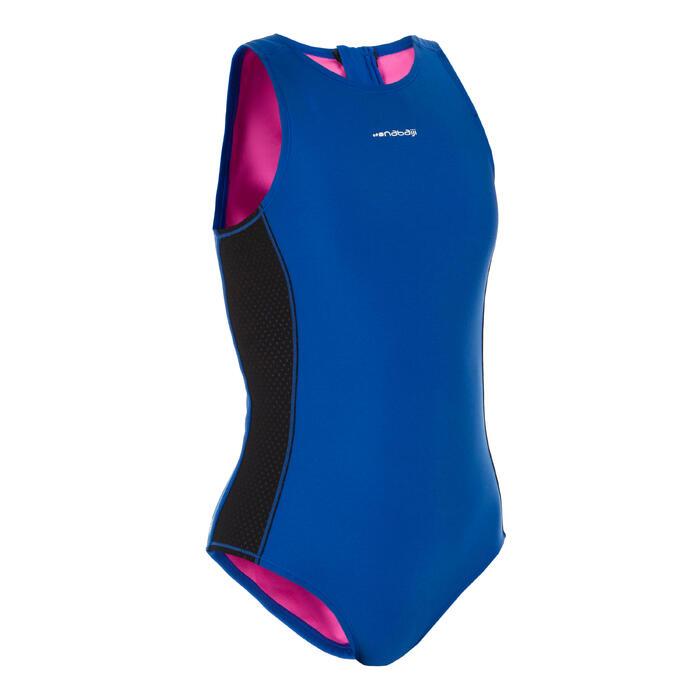 Waterpolo badpak meisjes 500 blauw