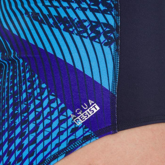 Badeanzug Wasserball 500 Sports Damen blau