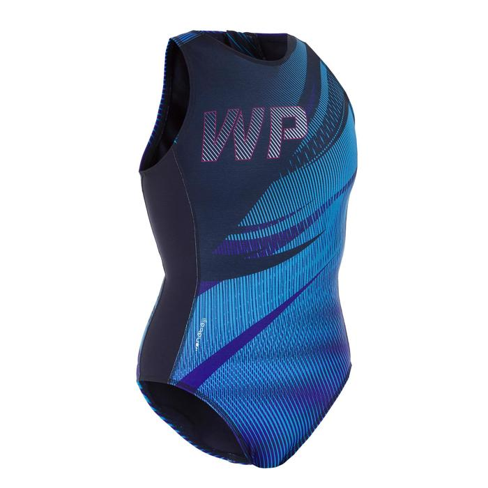 Waterpolobadpak voor dames 500 Sports blauw
