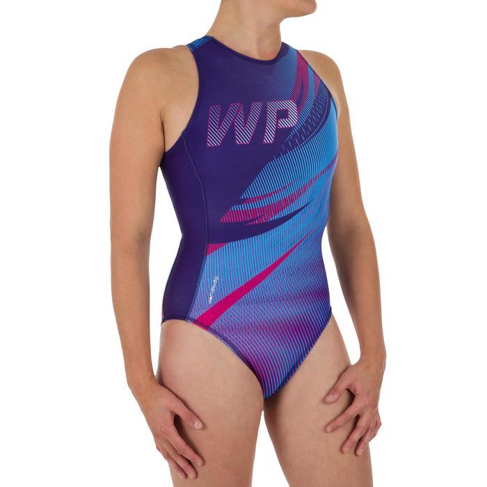 Sport-Badeanzug Wasserball 500 Damen rot