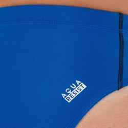 Badehose Slip Wasserball 500 Herren blau