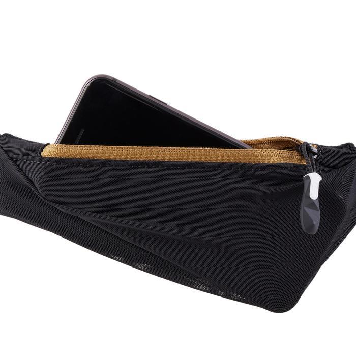 越野跑水壺腰帶500 ml - 黑色與古銅配色
