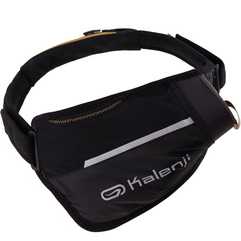 TRAIL RUNNING FLASK HOLDER WAISTBAND 500 ML - BLACK/BRONZE