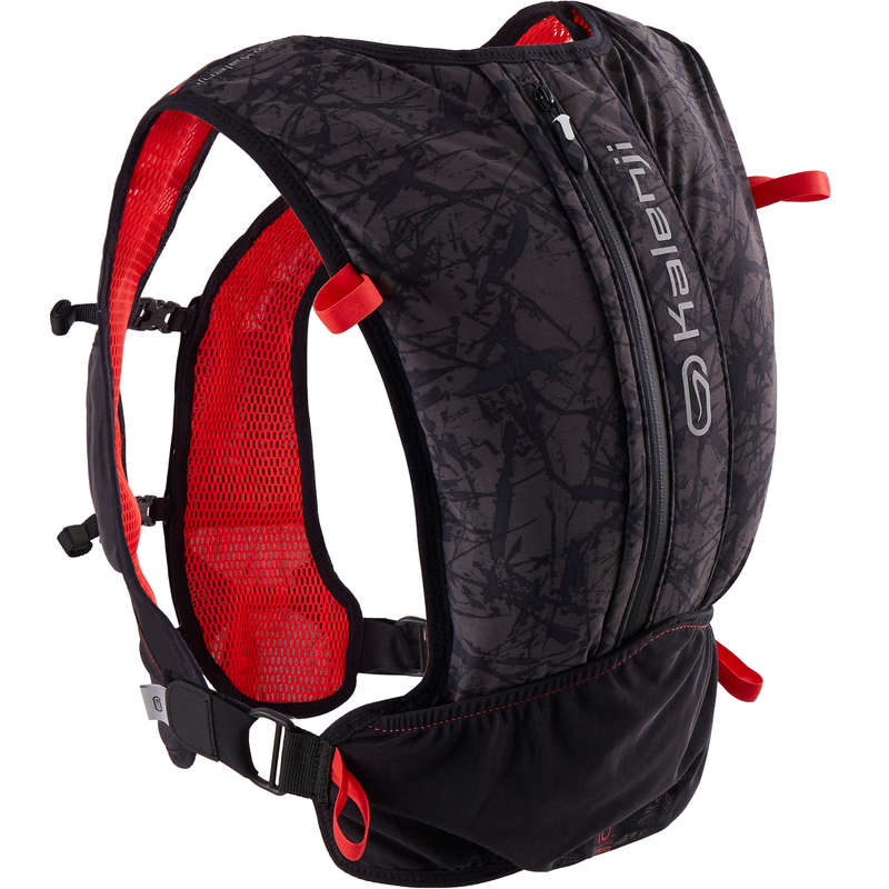 ACCESSORI EQUIPAGGIAMENTO TRAIL Running, Trail, Atletica - Zaino trail 10L nero-rosso KALENJI - Running, Trail, Atletica