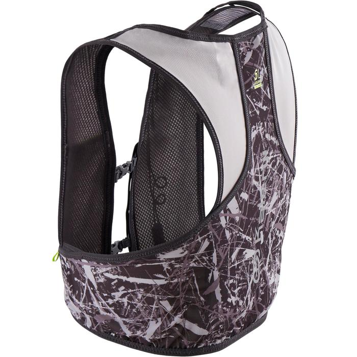 Trail Running 5L Hydration Vest Water Bottle Holder - grey and yellow