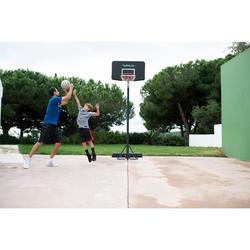 Basketballkorb-Anlage B100 Kinder/Erwachsene schwarz Einstellbar 2,20 bis 3,05m