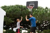B100 2.2 m to 3.05 m Adjustable Basketball Basket Black