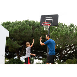 Canasta Baloncesto Tarmak B100 Negro Para Niño y Adulto de 2,20 a 3,05 m.