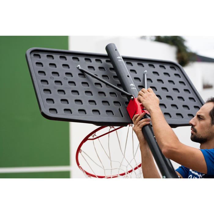 Basketbalpaal B100 Easy kinderen/volwassenen. Verstelbaar van 2,20 tot 3,05 m.