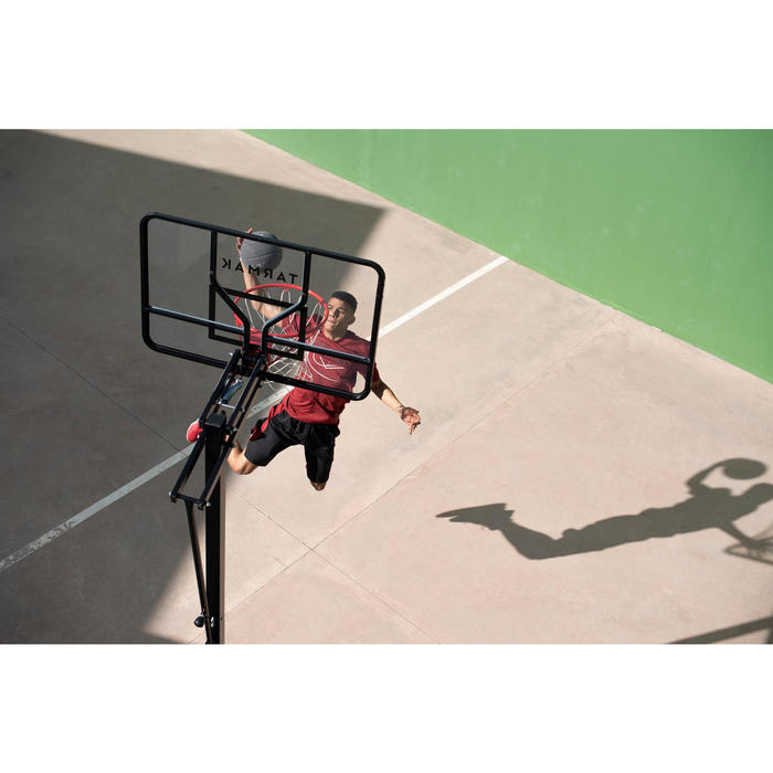B700 Pro Kids'/Adult Basketball Basket 2.4m to 3.05m. 7 playing heights.