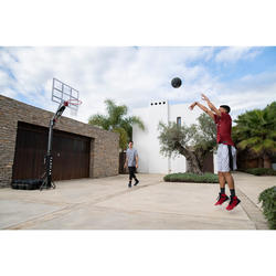 兒童/成人款籃球架B900-2.4 m到3.05 m可在2分鐘內快速裝設與收納。
