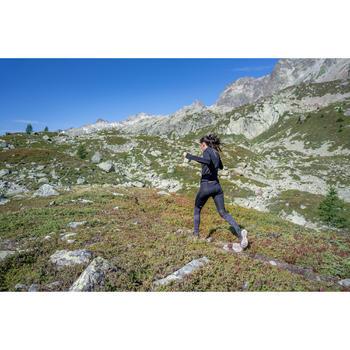 Damestight voor trail zwart/grijs/bloemen