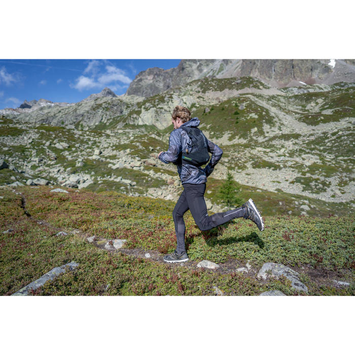 Laufhose lang Tights Trail Herren schwarz/grau