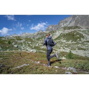 Mallas Térmicas Leggins Deportivos Trail Running Kalenji Hombre Negro/Gris