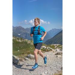 Men's Trail Running Short-Sleeved T-shirt - Blue/Turquoise