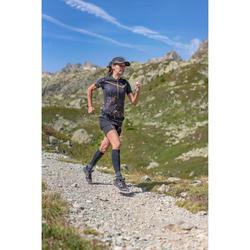 Women's Trail Running Short-Sleeved T-shirt - Black