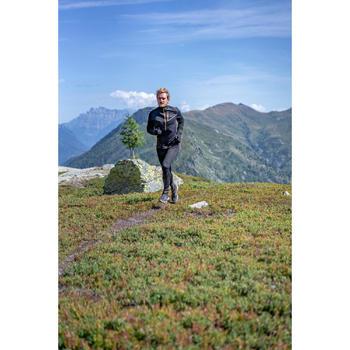 Camiseta chaqueta Softshell mangas largas trail running negro bronce hombre