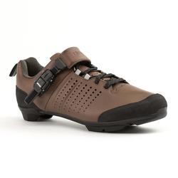 Fietsschoenen met veters en gesp wielertoerisme SPD 520 bruin