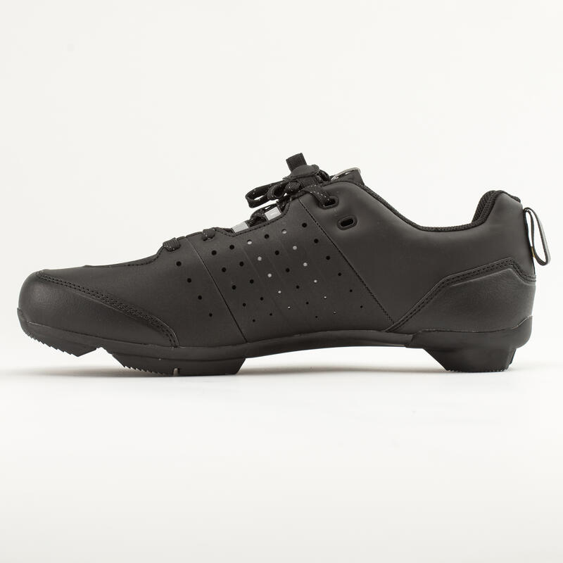500 SPD Road Cycling and Bike Touring Shoes - Black