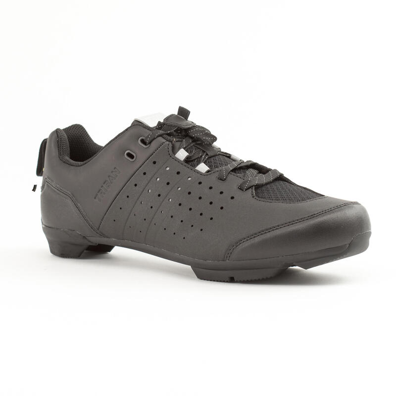 RC500 Lace Up Road Cycling Shoes - Black