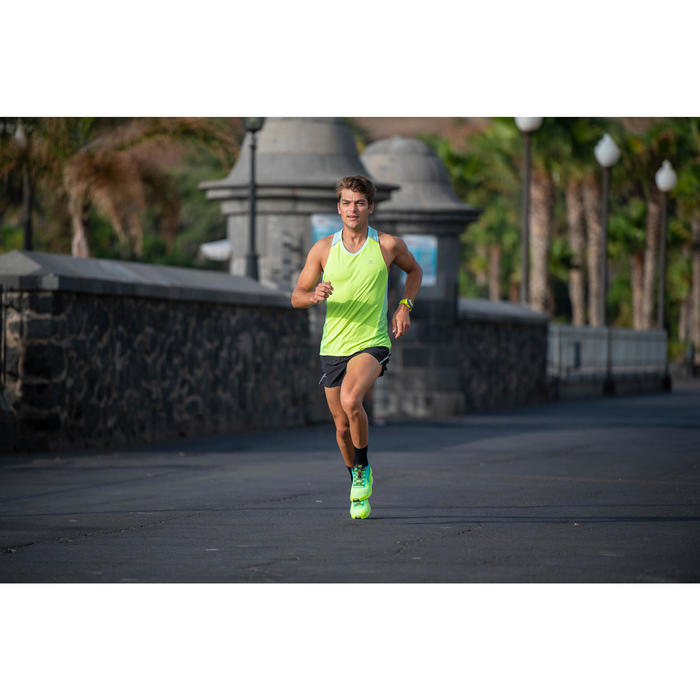 Hardloopschoenen voor heren Kiprun Ultralight geel groen