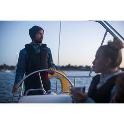 Fleecejacke Segeln Sailing 500 warm Herren grau