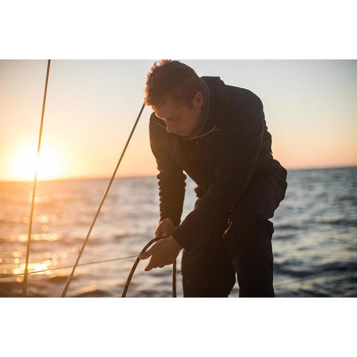 Warme schippersfleece Sailing 500 voor heren marineblauw
