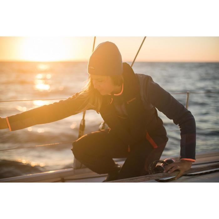 Fleecejacke Segeln Sailing 500 Warm Damen dunkelgrau