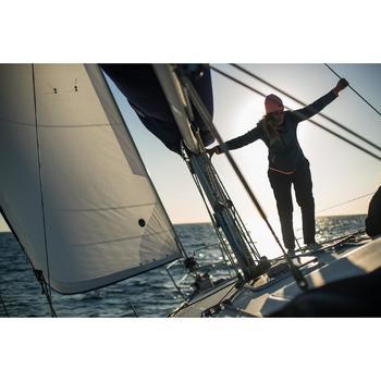 Warme damesfleece Sailing 500 voor zeilen donkergrijs