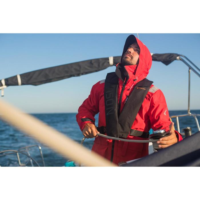 Segeljacke wasserdicht Sailing 500 Herren rot